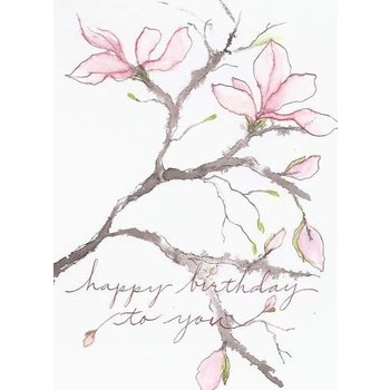 Lady Bird Magnolia Birthday Card