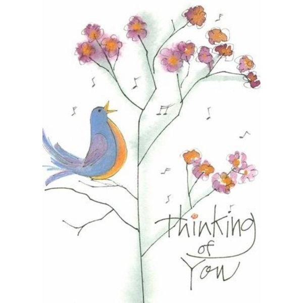 Lady Bird Songbird Thinking of You Blank Card