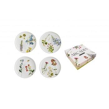 """Lady Bird Arcadia 6"""" Plates s/4 boxed"""