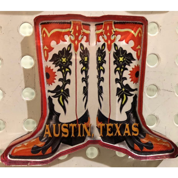 Austin & Texas Austin, TX RWB Boots Magnet