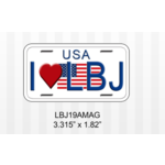 All the Way with LBJ sale-I heart LBJ Magnet