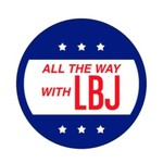 All the Way with LBJ All The Way acrylic magnet