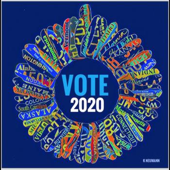 Americana Vote 2020 Blank Card