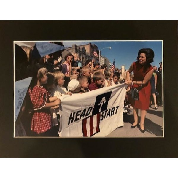 Lady Bird Head Start 1967 11x14 Matted Photo
