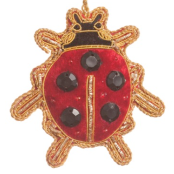 Lady Bird Red Satin Ladybug Ornament