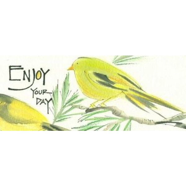 Lady Bird Enjoy Your Day Bookmark w/Tea