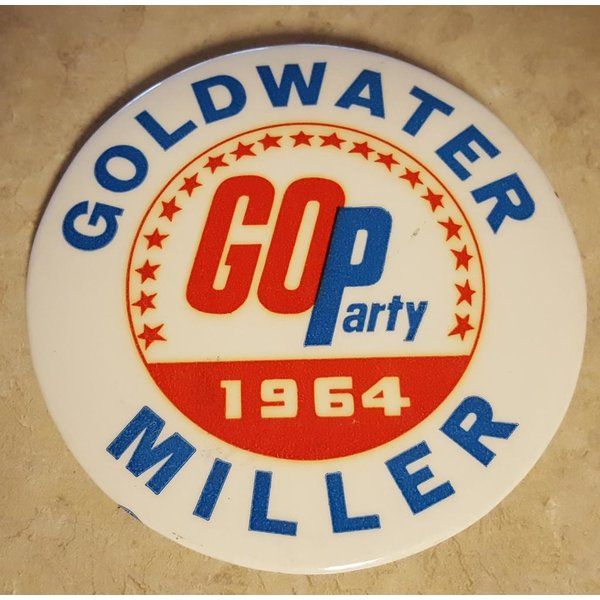 Goldwater Miller GOP 1964 Campaign Button