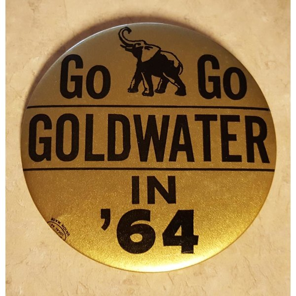 Go Go Goldwater in '64 Campaign Button