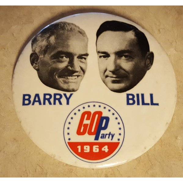 Barry Bill GOP Party 1964 Campaign Button
