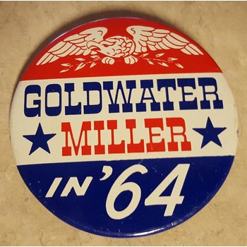Goldwater Miller in '64 Campaign Button