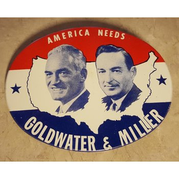 America Needs Goldwater & Miller Campaign Button