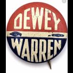 1948 Dewey Warren campaign button