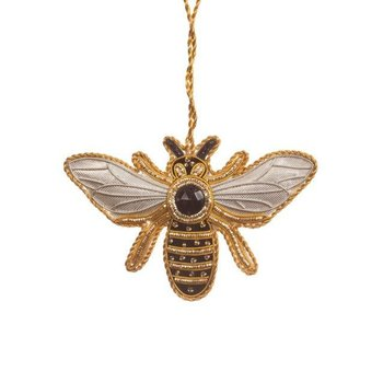 Lady Bird Bee Satin Ornament