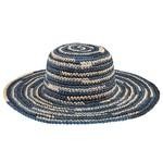Lady Bird sale-Space Dye Crochet Sun Hat blue