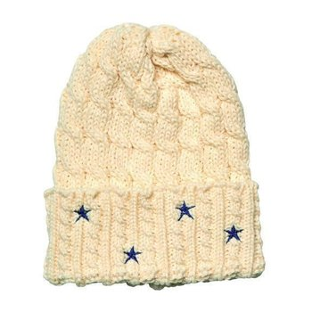 Americana sale-Cable Knit Beanie w/Star