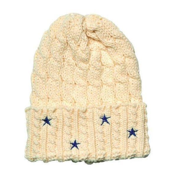 Americana sale-Cable Knit Beanie w/Star