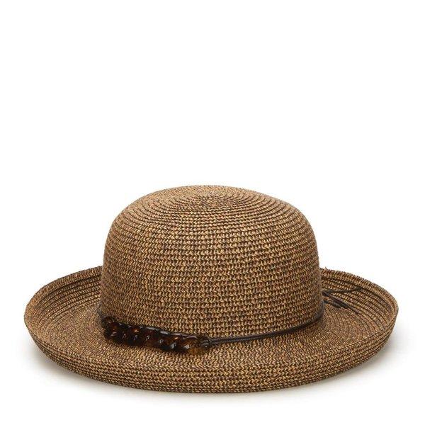 Lady Bird sale-Kettle Brim Hat w/tortoise shell chain blk or nat