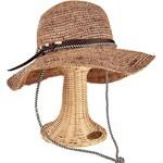 Lady Bird sale-Crochet Coffee Stripe w/Chin Cord