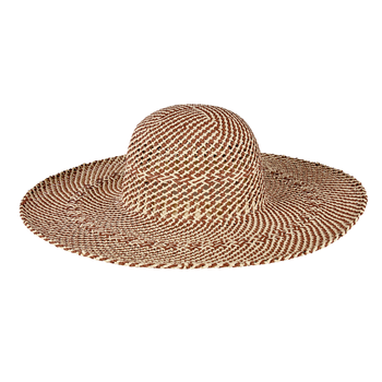 Lady Bird sale-Open Weave Round Crown Floppy Hat Nat