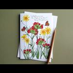 "Lady Bird ""Stuff of my heart"" Lady Bird quote wildflower blank card"