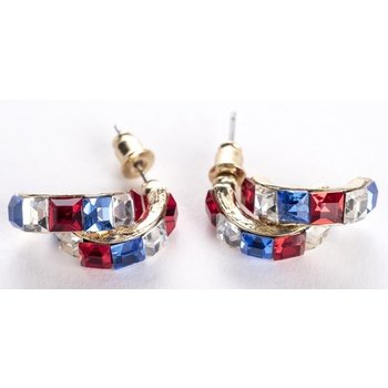 Americana RWB double hoop earrings