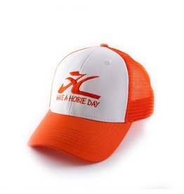 "Hobie Hobie Hat, Orange/White with ""HAVE A HOBIE DAY"""