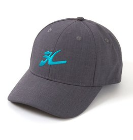 "Hobie Hobie Hat, Gray/Turq, Hobie ""Flying H"""