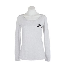 Hobie Hobie Ladies Long Sleeve T-Shirt, Scoop Neck, Flying H Logo