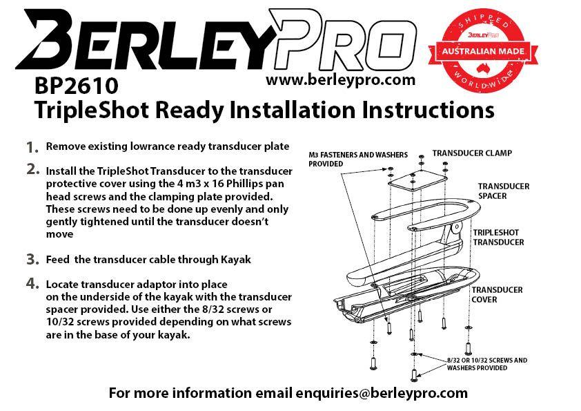 BerleyPro BerleyPro Lowrance TripleShot Transducer Mount - BP2610