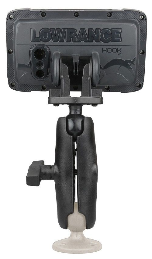 "Hobie Hobie Fish Finder Mount for Lowrance Hook2, 1"" Ball"