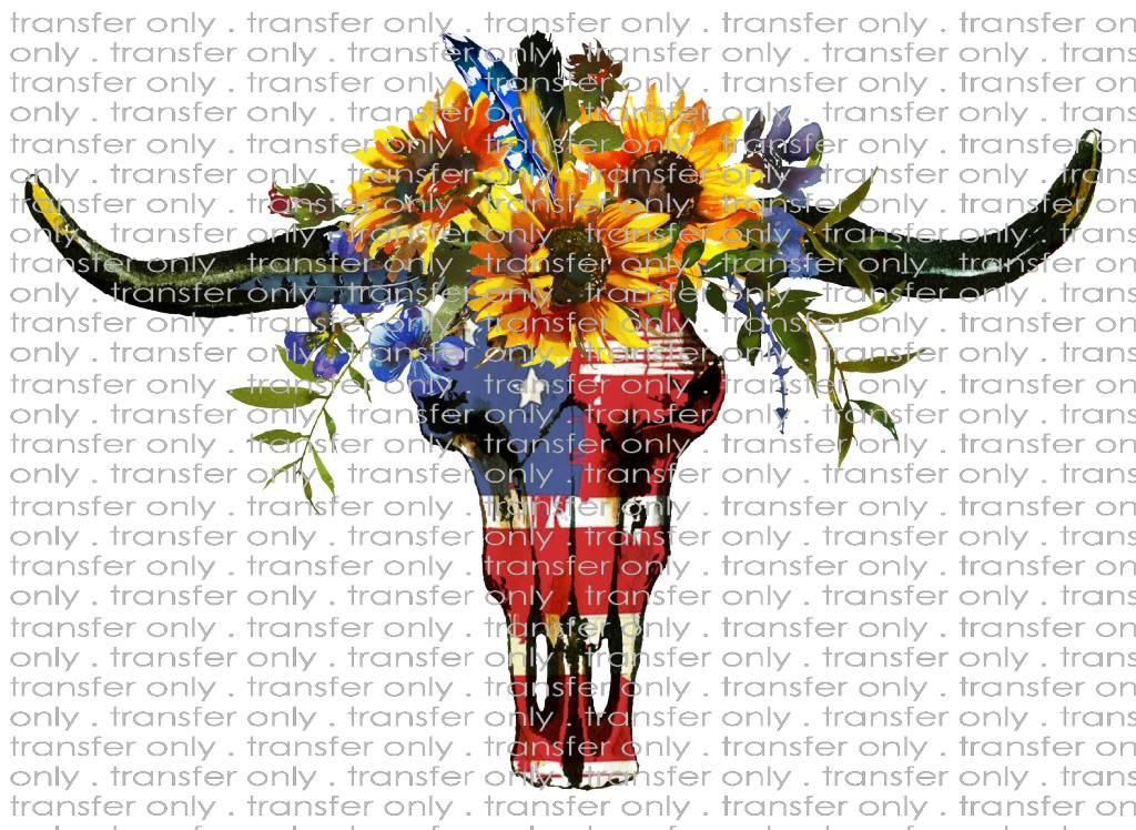 Siser Bull Skull Sunflower Taylored Vinyl