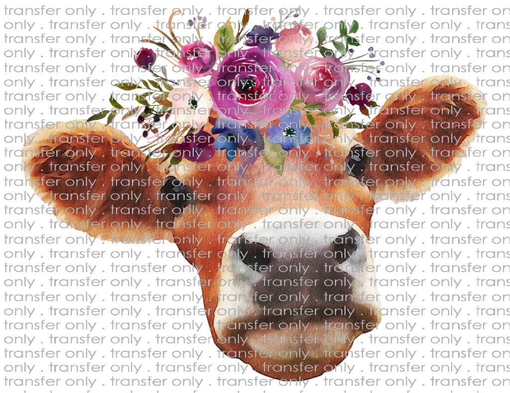 Siser Brown Cow With Flowers Taylored Vinyl