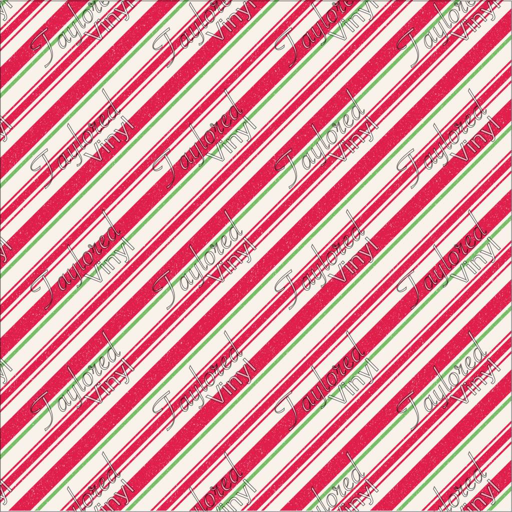Christmas Candy.Christmas Candy Cane Diagonal Red White And Green Printed Htv Vinyl