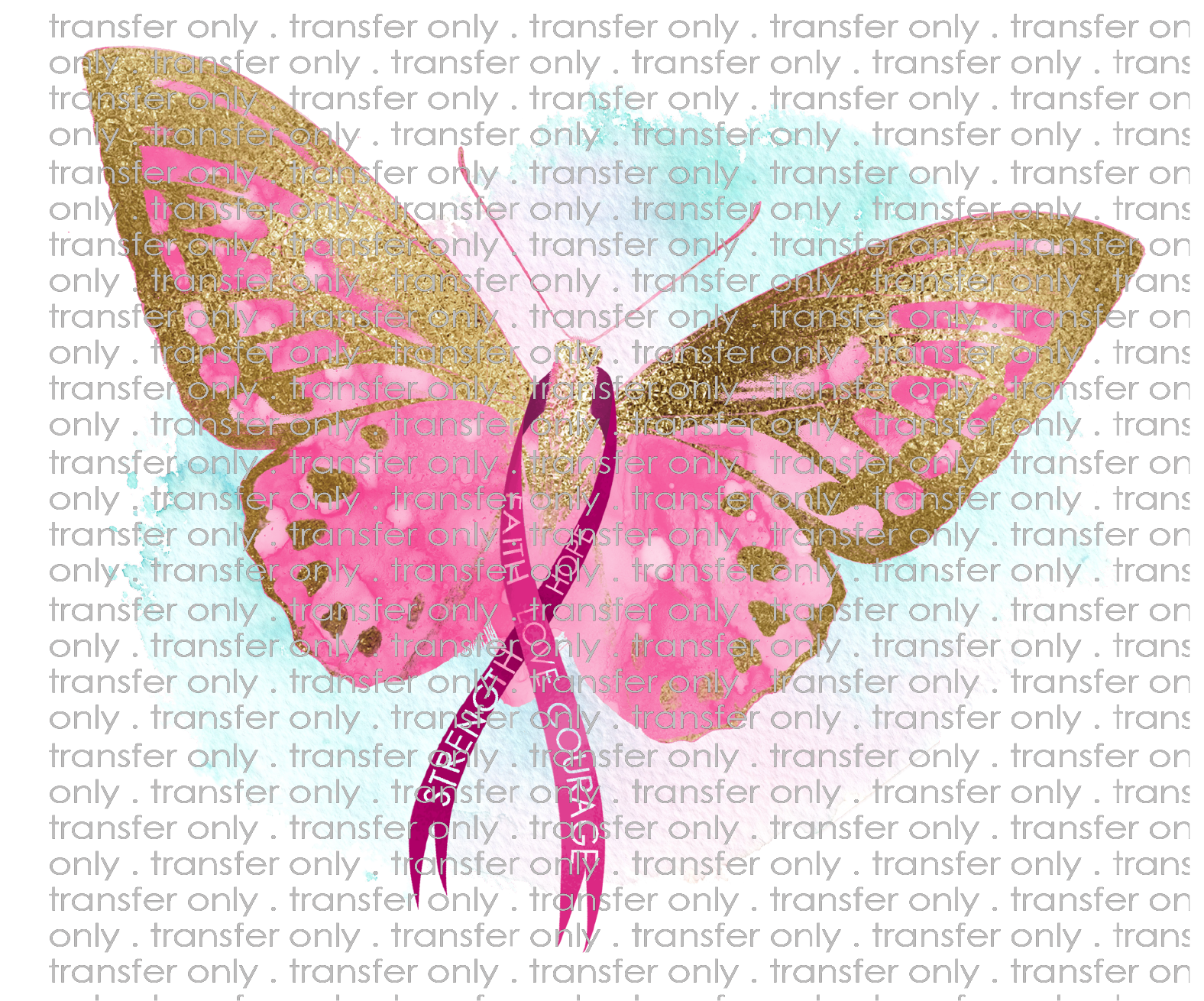 Siser Awr14 Breast Cancer Awareness Butterfly Taylored Vinyl