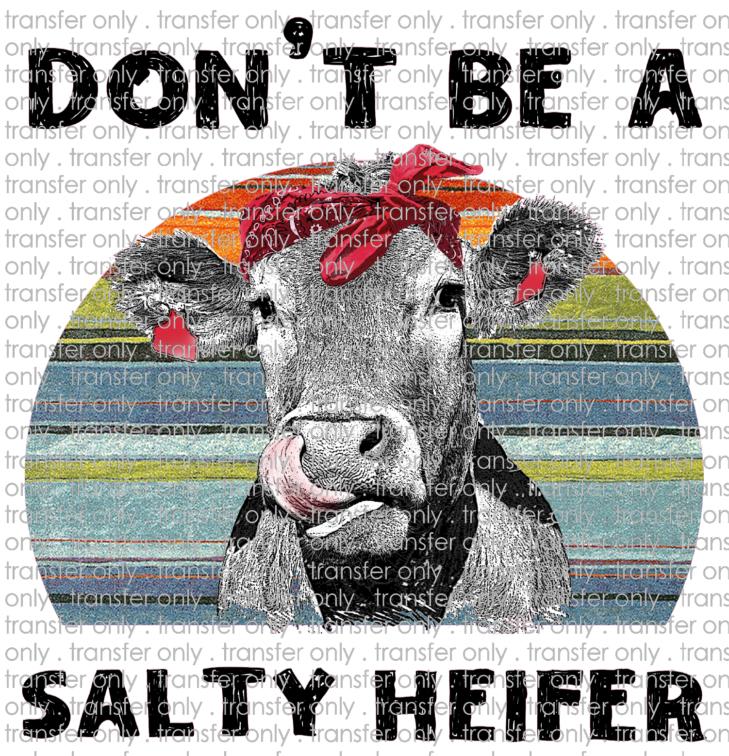 Siser Anm 17 Don T Be A Salty Heifer Taylored Vinyl