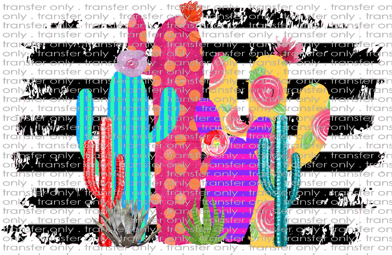 Siser Sw 26 Cactus With Stripe Background Taylored Vinyl