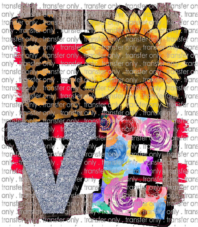 Siser Lov 9 Love Sunflower Leopard And Background