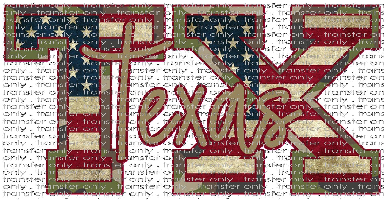 Siser Tx 36 Texas Camo American Flag Taylored Vinyl