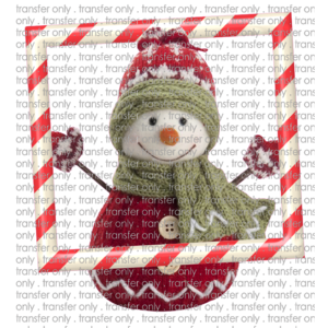 Siser CHR203 Snowman with Candy Cane Frame