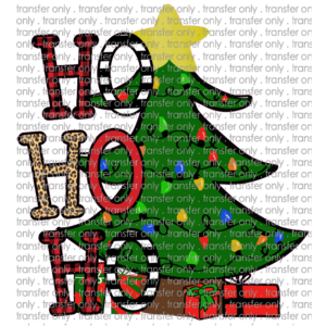 Siser CHR228 Ho Ho Ho Christmas Tree Leopard Buffalo Plaid