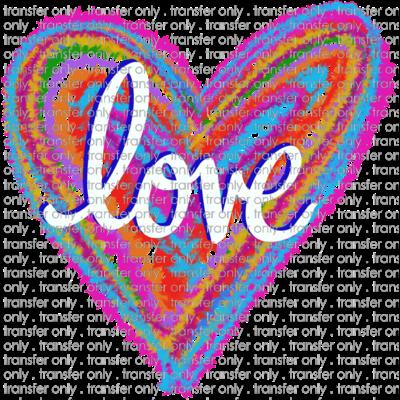Siser Val 104 Tie Dye Love Heart Taylored Vinyl