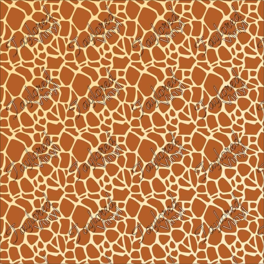Siser Giraffe Print Htv Taylored Vinyl