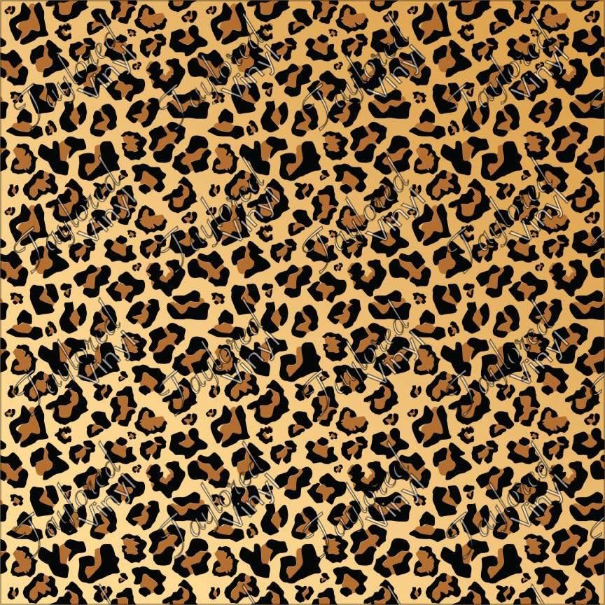 Animals Leopard Printed Htv Taylored Vinyl