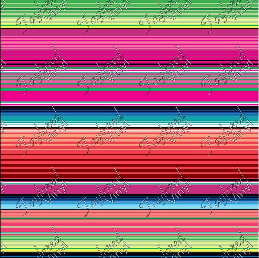 Oracal Serape Pink Printed Vinyl Taylored Vinyl