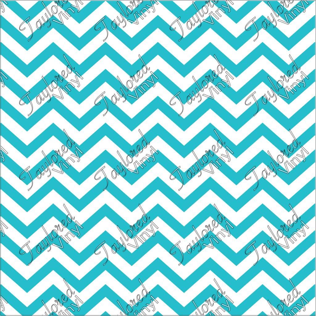 Chevron Blue 01 Printed HTV Vinyl