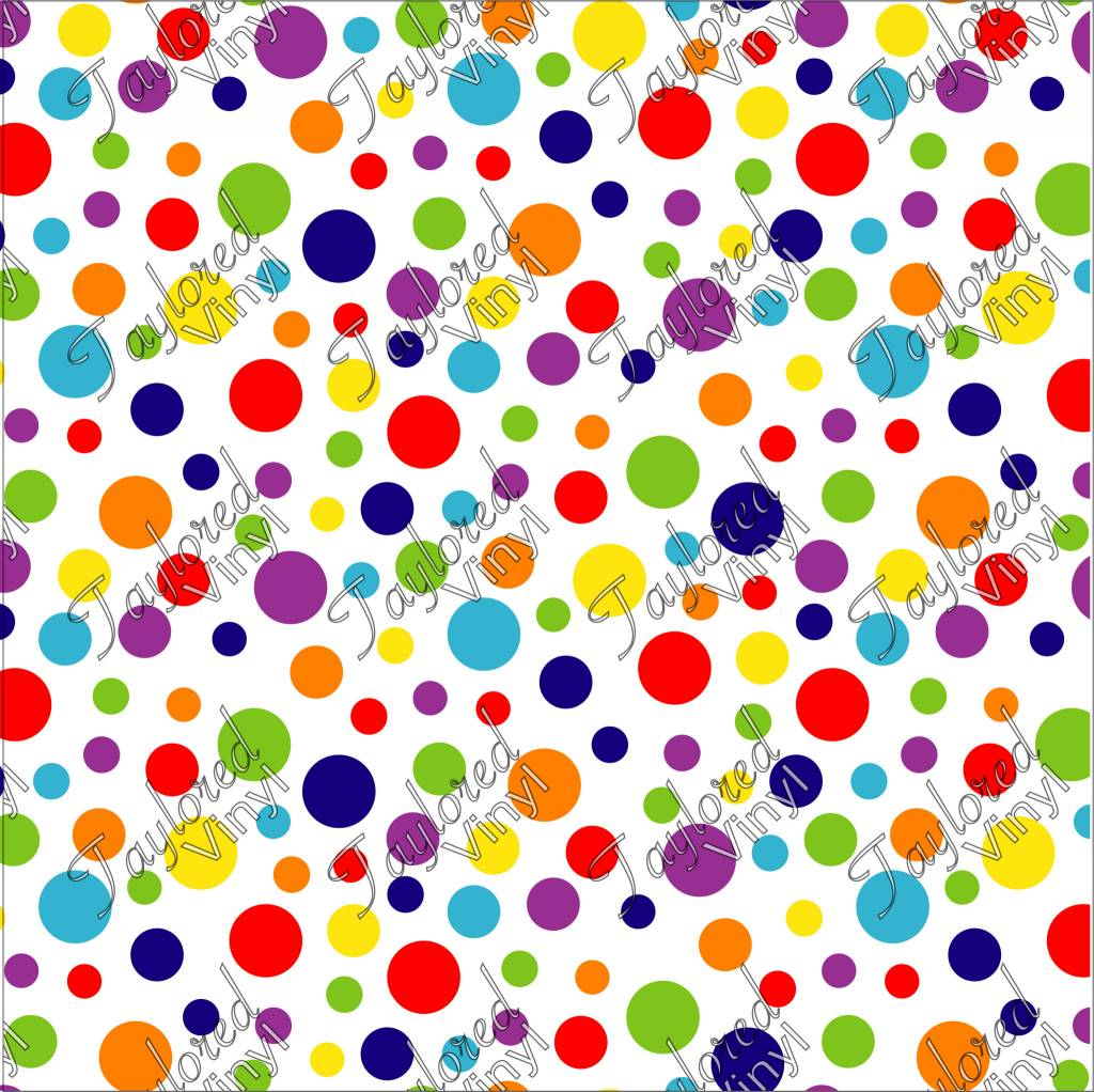 Oracal Rainbow Dots Printed Vinyl Taylored Vinyl