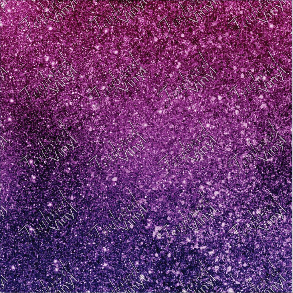 Ombre Glitter Pink And Purple Printed Htv Taylored Vinyl