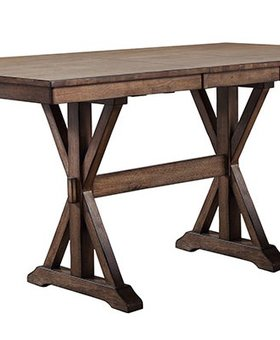 "DINING 36"" SQUARE TALL TABLE RUST BROWN FINISH"