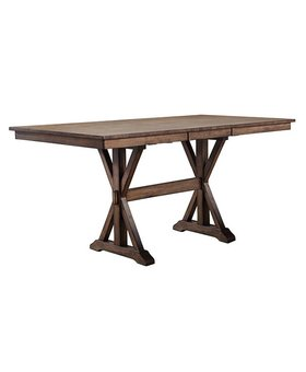 """DINING 36"""" SQUARE TALL TABLE RUST BROWN FINISH"""