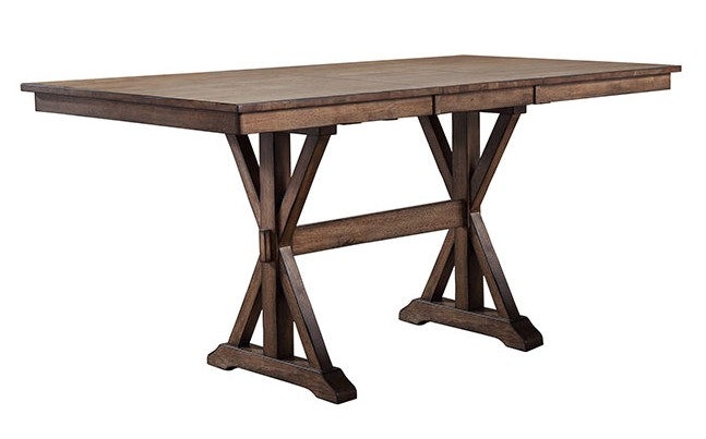 "DINING 78"" TALL TABLE RUST BROWN FINISH"